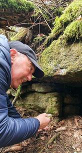 Hat die Ruinen im Bornwald seit der Kindheit im Blick: Steffen Neubauer. Foto: Andreas Bauer