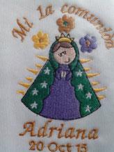 Bordado para servilleta ó toalla Primera comunión