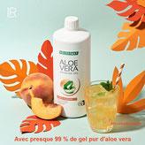 """mélanger le Gel d'Aloe vera LR avec des jus de fruits, on obtient une boisson revitalisante du même type que les """"boissons énergétiques""""."""