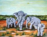 Afrika und seine Tiere; hier Elefanten