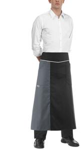 Grembiule lungo unisex Double linea Egochef per bistrò ristoranti bar catering