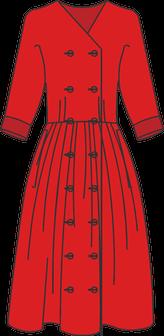 Robe croisée double boutonnage