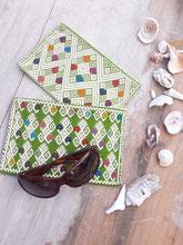 Brillen Etuit, kleine Kosmetiktasche, Mexikanische Kosmetikbeutel, mexikanische kleine Kulturtasche, Etuit aus Mexiko, Geldbörse aus Stoff, buntes Etuit, Damen Kulturbeutel