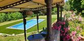La piscine du Château La Hitte à Lavardac sous le soleil