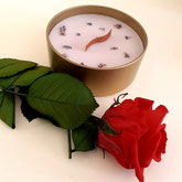 Bougie Rose Romantique