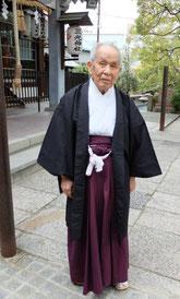三光神社の宮司、小田禮五郎さん