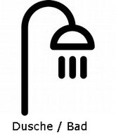 Dusche Bad Hotel Krone Lindow bei Neuruppin, Rheinsberg, Oranienburg, Kremmen, Berlin