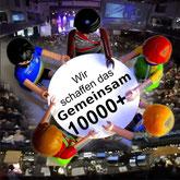 Telegram Gruppen Avatar 10000 Plus gemeinsam sind wir unschlagbar erfolgreich
