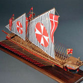 36-8  Galley for Knights of Malta | Mamoru KIMURA