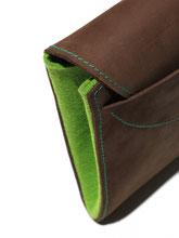 Tablettasche / iPad-Tasche aus leder und Filz, Tablethülle mit Sonnenschutz, Tablethülle