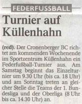 Westdeutsche Zeitung Vorbericht vom 04.06.2004