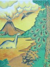 『恐竜の国での冒険』裏表紙