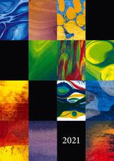 Titelblatt Kinderkunstkalender Wohltat 2021 – gestaltet mit Kindern der Arche Bad Krozingen
