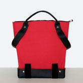 Trasporta bag - Adaptive Bag - Wheelchair bag - Bag for wheelchair user - Bag with zipper - Tote bag - Shoulder bag - Made in Ticino - Ruby red