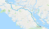 Port Hardy - Parksville (Google Maps)