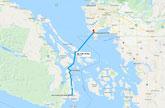 Victoria - Vancouver (Google Maps)