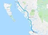 Fährstrecke (Google Maps)