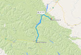 Strecke Miette Hot Springs (Google Maps)