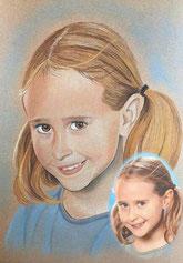 portrait zeichnen lassen kunst meiner seele, farbportrait, foto farbig zeichnen, farbzeichnung portrait, günstig zeichnen lassen