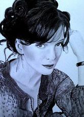 portrait zeichnen lassen kunst meiner seele, bleistiftzeichnung nach foto, portraitzeichnung schwarz weiß