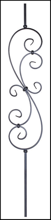 wrought iron spindles PS1051-1