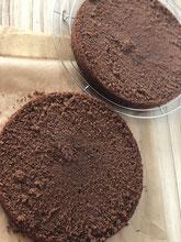 Kuchen 1 x waagrecht durchschneiden