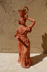 Woman with a Water Pitcher, sculpture by Sarah Myers