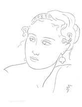 Portrait of a Woman, line drawing by Sarah Myers