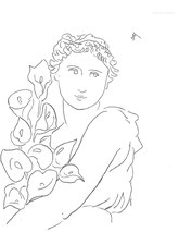 Calla Lilies, line drawing by Sarah Myers