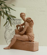 Woman with Two-handled Vase, sculpture by Sarah Myers