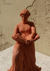 Woman Reading a Book, sculpture by Sarah Myers