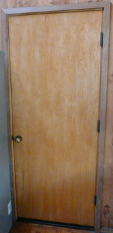 Door before deadbolt installation