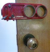 Deadbolt lock boring jig