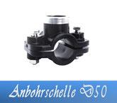 Anbohrschelle DA50 1/2' IG Fitting Verrohrungsmaterial und Zubehör