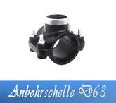 Anbohrschelle DA63 1/2' IG Fitting Verrohrungsmaterial und Zubehör