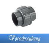 Verschraubung DA50 DA63 Fitting Klebe Verrohrungsmaterial und Zubehör