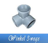 Winkel 3-Wege DA50 DA63 Fitting Klebe Verrohrungsmaterial und Zubehör
