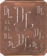 Monogramm Schablone DER KONSUMENT