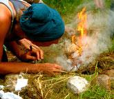 Feuer machen ohne Streichholz und Feuerzeug