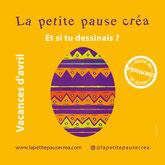 www.lapetitepausecrea.com  Activités créatives pour les 6/12 ans. Vacances d'avril.