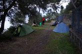 1er campement en Italie