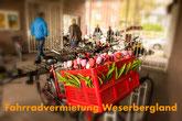 Fahrradvermietung Weserbergland, Fahrradverleih, Fahrräder Weser, Weserbergland, Weser