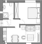 Grundriss Loft C im Strandloft 2 auf Norderney © copyright ferienwohnungen-norderney-ferienhaus.de