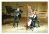 Zoltán Kovács, Klarinette; Anne-Sophie Bertrand; Foto: Max Beckschäfer  , Harfe
