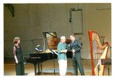 Duo NEON mit Robert Delanoff im Schwere Reiter MUSIK; Foto Max Beckschäfer