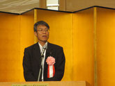 来賓の挨拶をされる徳島県の海野修司県土整備部長