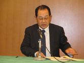 通常総会の議長をされる(株)宮崎測量設計コンサルタントの濱田博人社長