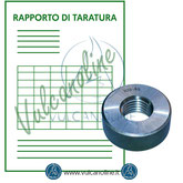 Taratura anello filettato