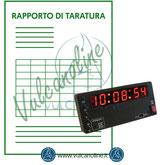 Taratura cronometro