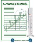 Taratura cilindro graduato in vetro